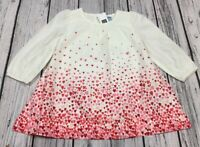 Baby Gap Girls 3-6 Months Lightweight Red Pink Heart Dress With Bloomers. Nwt