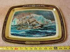 "Vintage ""Sovereign of the Seas"" tin painting, sailing vessel artwork. L. Kutzli"