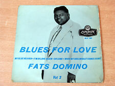 "Fats Domino/Blues For Love Volume 2/1956 GOLD London 7"" EP/My Blue Heaven"