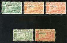 New Hebrides 1938 KGVI Postage Due set complete VFU. SG D6-D10. Sc J6-J10.