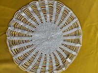 """Vintage White Cotton Lace Doily, Exc Condition, No Holes or Stains, 10"""" Diameter"""
