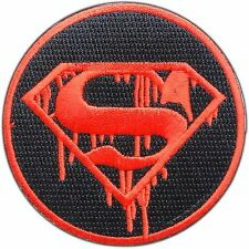 Superman Blood Dead Kill Killer Superhero Hero Kids Children Iron-On Patch #0305