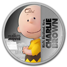 "2015 Niue 1 oz Silver ""The Peanuts Movie"" Charlie Brown - SKU #94219"