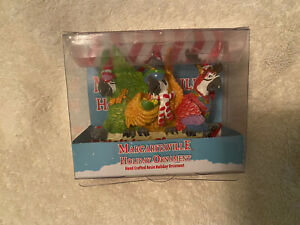 Margaritaville Holiday Ornament NEW In Box Holiday Cheers With 3 Parrots