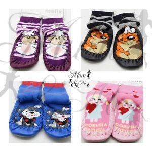 Kids Boys Girls Thermal Slipper Socks Toddler Cotton Non Slip Home Socks
