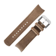 CRAFTER BLUE Italian Leather Curved End Watch Strap for Seiko SKX Series – KHAKI