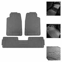 Car Floor Mats for All Weather Rubber Tactical Fit Heavy Duty Gray