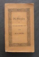 J. Wendt DIE THERMEN VON WARMBRUNN IM SCHLESISCHEN RIESENGEBIRGE 1840 Schlesien