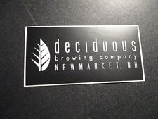 DECIDUOUS BREWING CO Auroral New Hampshire STICKER decal craft beer brewery