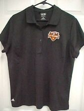 HOUSTON DYNAMO Women Black Climalite Short Sleeve Polo Shirt 2XL Adidas New