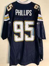 dfbfd21e9 Reebok Premier NFL Jersey Chargers Shaun Phillips Navy sz 3X