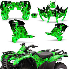 Honda Rancher 420 Graphic Kit ATV Quad Decals Sticker Wrap 2007-2013 ICE GREEN