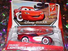 "DISNEY PIXAR CARS ""CRUSIN McQUEEN"" Die-Cast Metal, Scale 1:55, NEW , Mattel"