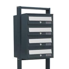 4er Postfach Stand Briefkastenanlage 4 Standbriefkasten 4fach System Postkasten