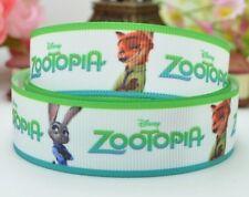"""BTY 7/8"""" Disney Zootopia Grosgrain Ribbon Hair Bows Lanyards Lisa"""