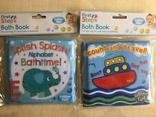 First Steps Baby Bath Books Count & Travel and Splish Splash Alphabet Bathtime.