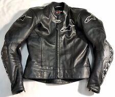 ALPINESTARS Motorcycle Motorbike Bike Leather Jacket Size Uk 36 / EU 46