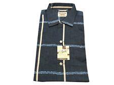 MENS M VTG 50s DEADSTOCK NWT Bargo Button Shirt Rockabilly Loop Color Plaid