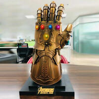 Movie 1:1 Thanos Infinity Gauntlet Statue With Light Cosplay Props Kids Men Gift