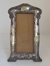 Antique Sterling Picture Frame Art Nouveau