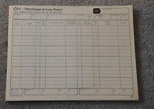 Vintage 1960s UNUSED CN Interchange Activity Report CANADIAN NATIONAL RAILROAD