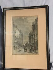 Antique print of Southwark 1810 framed and mounted
