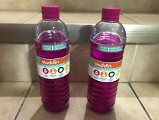 BRAND NEW set of 2 aladdin 18oz two-way lid water vessel pink bottles