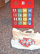 BAG OF 32 COLOR BLOCKS WITH STAND FOR TODDLERS TEACHING LEARNING FUN