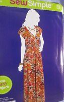 Simplicity Pattern A1046 Sew Simple Sizes 8-18 Misses Knit Maxi Dress Uncut