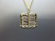 """14KT GOLD EP 10(TEN) COMMANDMENTS  CHARM PENDANT WITH A 20"""" ROPE-CHAIN-75A"""