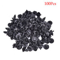 100Pcs 8mm Plastic Rivet Fastener Mud Flaps Bumper Fender Push Clips For Niss I1