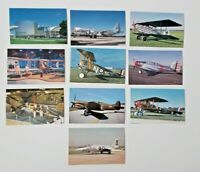 LOT OF 10 DAYTON OHIO OH  POSTCARDS AIR FORCE MUSEUM W-PAFB AIRPLANES