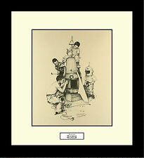 Norman Rockwell ROCKET SHIP Framed Boys Rockets Space Engineering Wall Art Gift