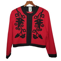 Hairston Roberson Womens Ropa Embroidered Bolero Wool Jacket