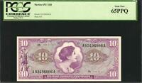 US MPC Series # 651 $10 Vietnam Era, Gem Uncirculated PCGS 65PPQ, (2 available)