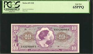 US MPC Series # 651 $10 Vietnam Era, Gem Uncirculated PCGS 65PPQ, (2 available)