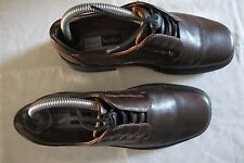 Josef Seibel Brown Leather Slip On Loafer Casual Shoes Mens Size 7.0