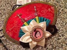 New Disney Parks Mulan Hat Costume Asian Halloween Novelty Adult Strap Cap Mini