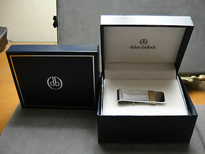MEN'S 14K SOLID HEAVY WHITE&YELLOW GOLD NEW IN THE BOX DOLAN-BULLOCK MONEY CLIP