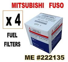 MITSUBISHI FUSO FUEL FILTER #ME222135 (4 EACH)  FUSO FE FG  & STERLING 360