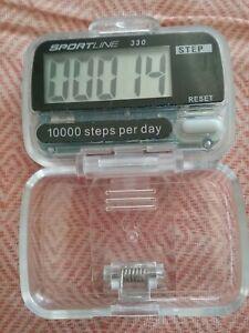 Sportline Pedometer 330 Active Series 1000 Steps Goal Distance Calories BELTCLIP