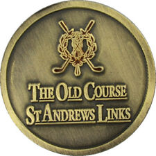 St. ANDREWS (The Old Course) TWO SIDED Logo FLAT Golf BALL MARKER