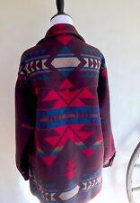 PENDLETON HIGH GRADE WESTERNWEAR Wool Indian Blanket Coat Men's-L Womans-XXL USA