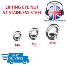 Lifting Eye Nut Marine Grade 316 Stainless Steel M6 M8 M10 Nuts