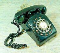ITT Western Electric Vintage 1961 Rotary Dial Black 500 Desk Phone  GA-51859