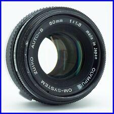 OLYMPUS ZUIKO 50mm f1.8 OM mount vintage obiettivo lens lente kit bokeh sfocato