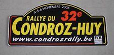 Autocollant/Sticker 32ème Rallye du Condroz 2005 . Motor Club de Huy
