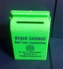 Vintage Bank Promotional Savings Coin Bank Nyack Savings And Loan New York