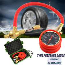 70PSI Tyre Pressure Deflator Gauge  With Flexible Hose for Car Motocyle