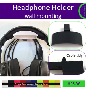 Headset Headphone wall mount holder. Made by us in the UK